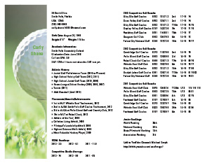 Captivating See Larger Sample Idea College Golf Resume