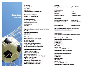 Soccer. See Larger Sample  Soccer Player Resume